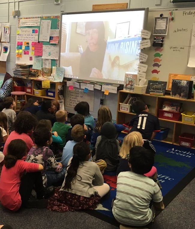 Skype visit at Campbell Elementary School